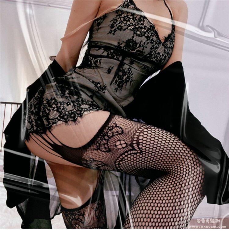 性感镂空一体吊带袜开裆打底渔网袜 这个卖家的详情页很秀啊~