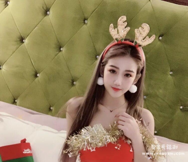 少女网红模特圈的小甜心 圣诞麋鹿女主 chinbaby