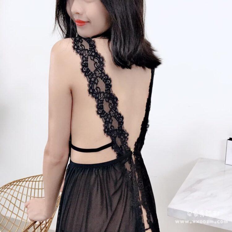 凯朱莉夏季蕾丝网纱透明性感睡衣睡裙 拍私房写真很不错