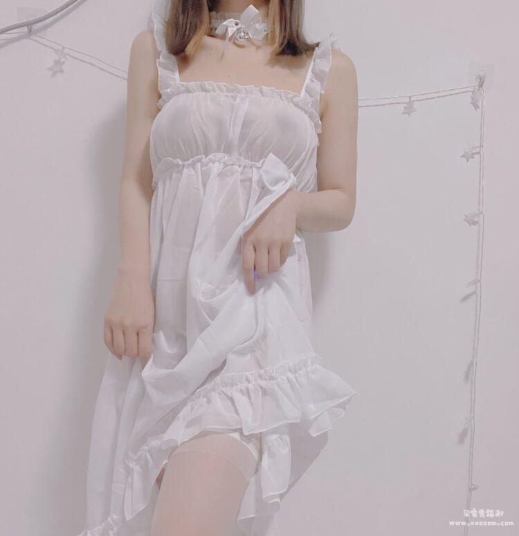 半透女仆装雪纺睡衣性感睡裙连衣裙 约隐约现的诱惑