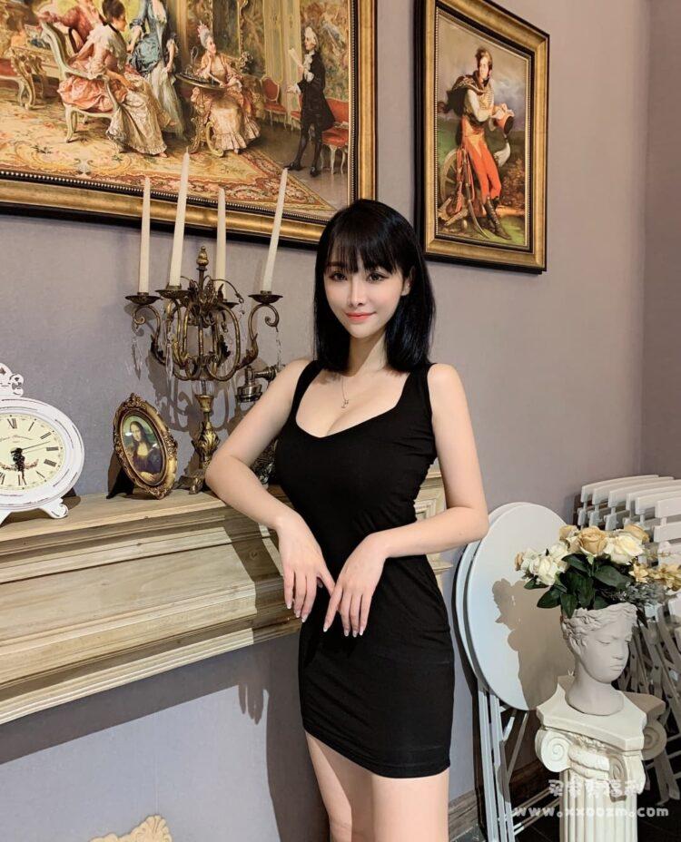 夜店女深V低胸性感包臀裙 我先生很喜欢我穿这个裙子