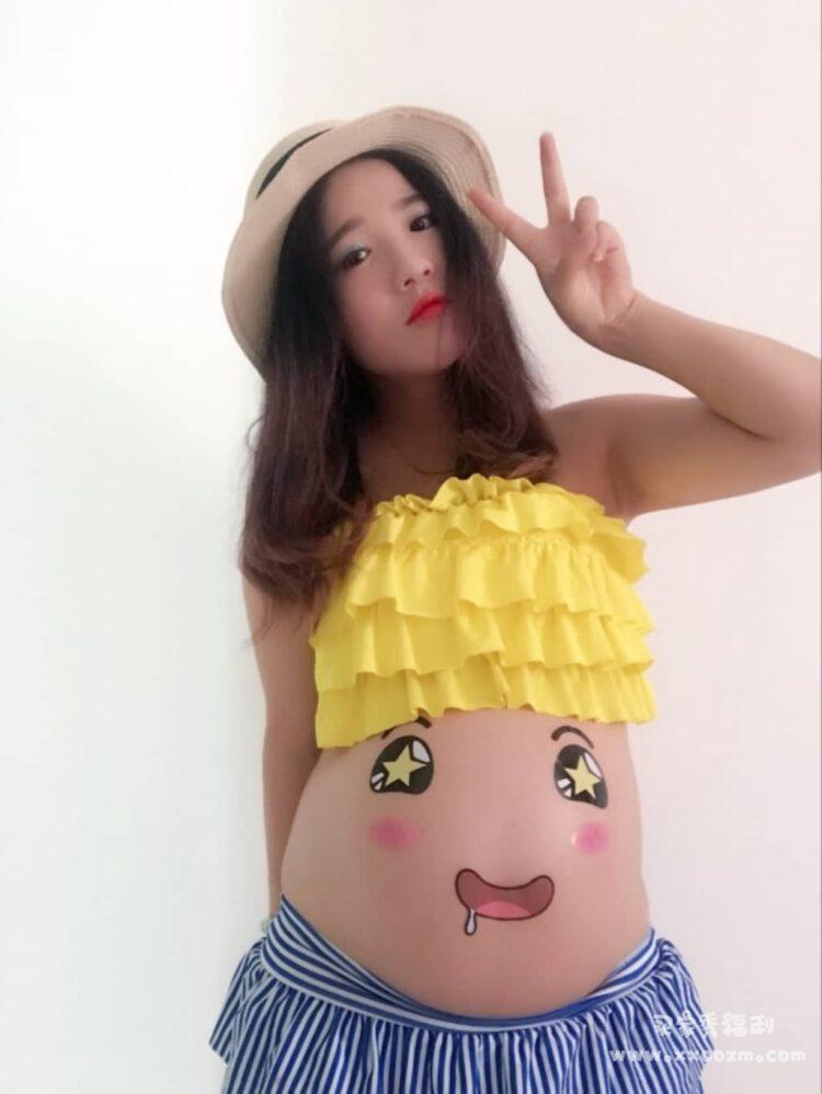 搞笑怀孕拍照纪念写真孕妇贴 感觉很可爱