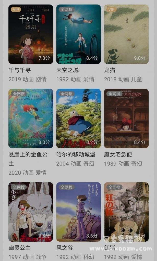 国庆节大放送:宫崎骏动漫63部大合集 1080P 在线观看